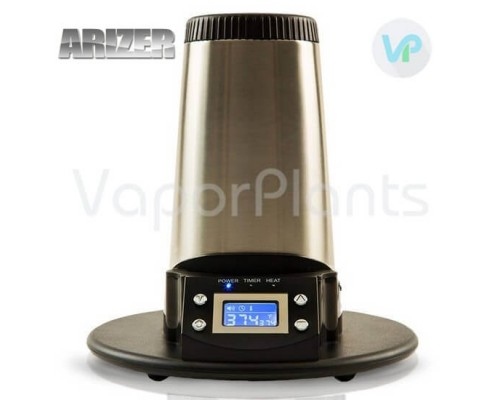 Arizer V Tower Vaprozer for Dry Herbs with Turned on LCD Screen