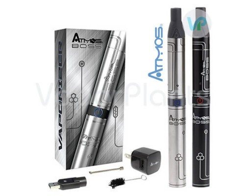 Atmos Boss Black and Stainless Silver Vaporizers