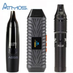 Atmos Ruva Aegis and Pillar Vaporizers Side by Side
