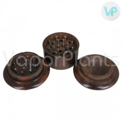 Wooden Herb Grinder - 3 Piece