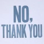 No Thank You