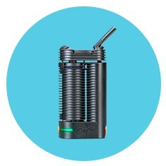 Crafty Vaporizer for Weed on Blue Background