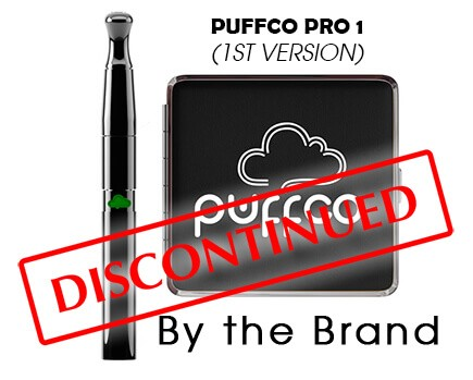 Puffco Pro 1st generation Vaporizer next to Carrying Case that has been discontinued by the brand
