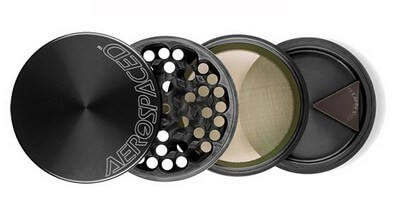 AeroSpaced 4 Piece Weed Grinder