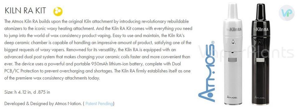 Atmos Kiln RA Vaporizer Pen Information