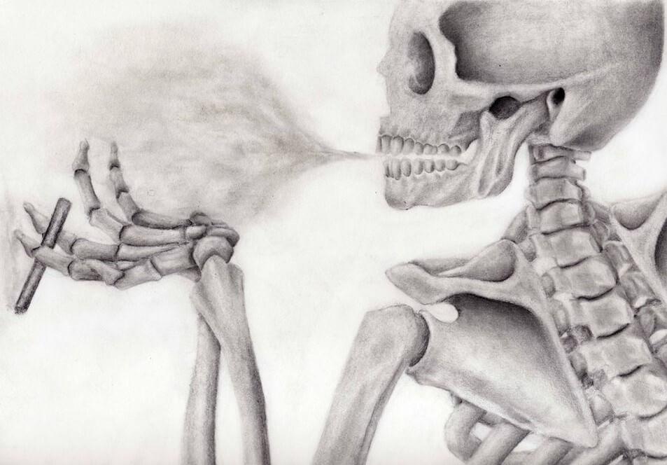 Carcinogens, Human Skeleton Smoking