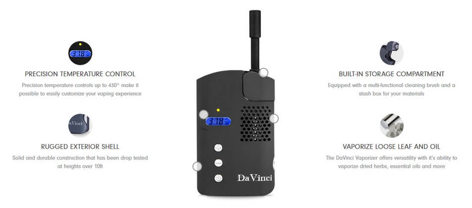 DaVinci Vaporizer for Weed and Wax Features
