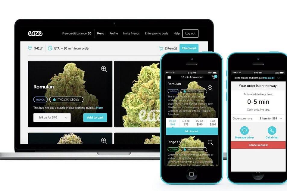 Eaze Marijuana Delivery Company