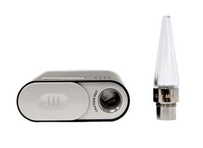 Flowermate Vaporizer next to Mouthpiece