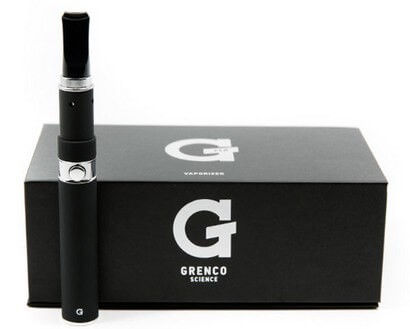 G Pen Vaporizer in front of Box