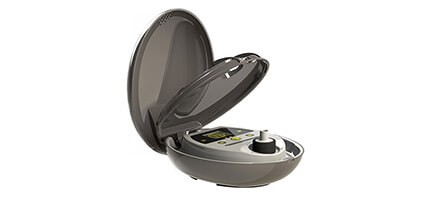 Herbalizer Vaporizer opened up to show the Heating Chamber