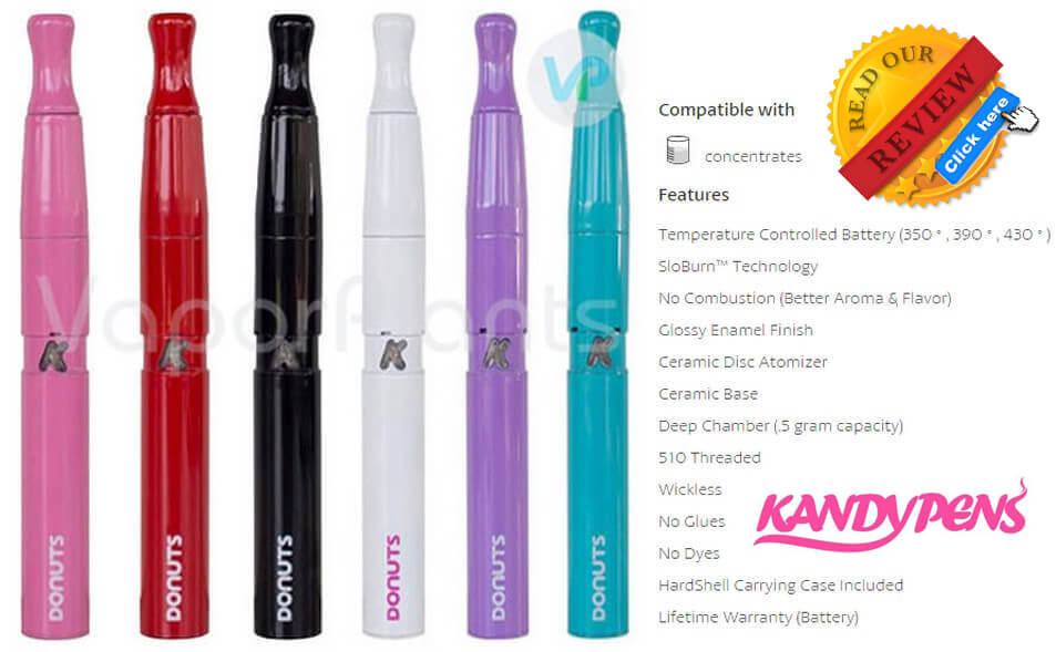 KandyPens Donuts Vaporizer for Marijuana Wax Description