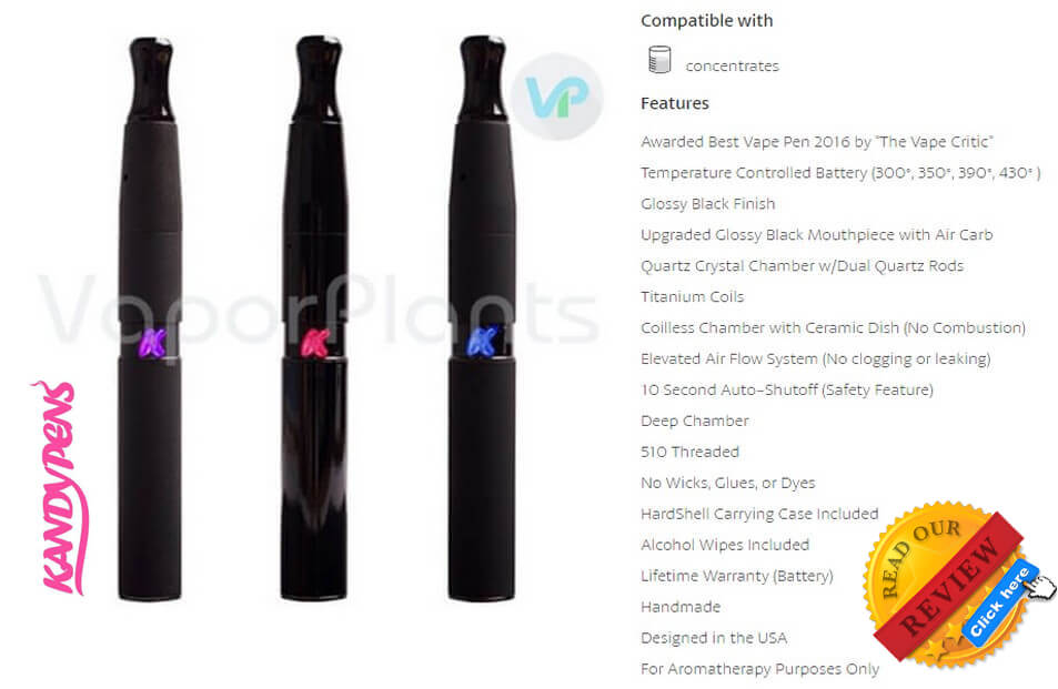 KandyPens Gravity Vaporizer for Oil Description