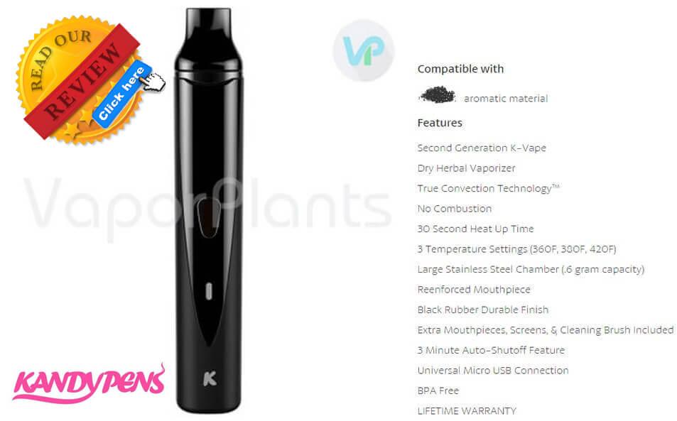 KandyPens K-Vape 2.0 Weed Vaporizer Description