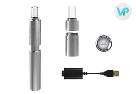 Linx Hypnos wax vaporizer pen with the usb charger and heating chamber