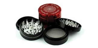 Red and Black Dry Herb Grinders