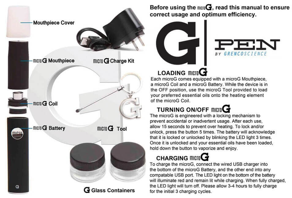 grenco g pen instructions