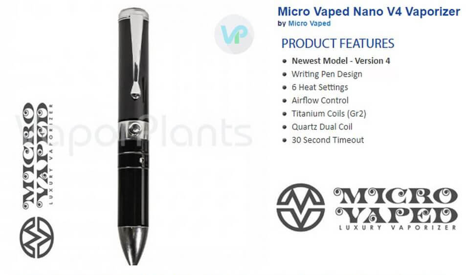 Micro Vaped Nano V4 Dab Pen Information
