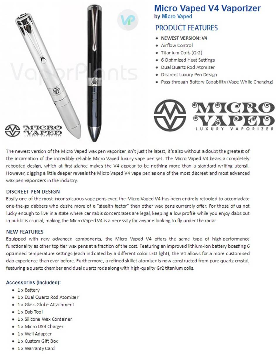 Micro Vaped Vaporizer for Wax Information