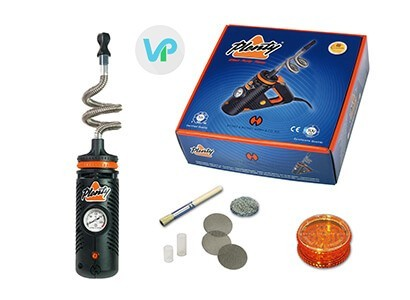 Plenty Vaporizer by Storz and Bickel entire kit with mesh, cleaning brush tool and herb grinder