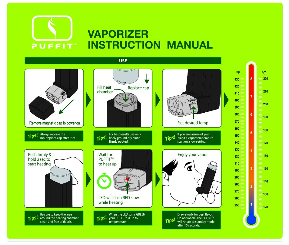 Puffit Vaporizer Instructions Manual