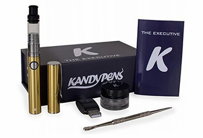 KandyPens Executive box, with usb charger, loading tool pick, manual, battery and mouthpiece