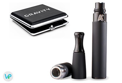 KandyPens Gravity next to the black carrying case