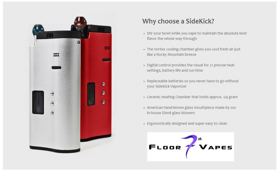 SideKick Vaporizer Features