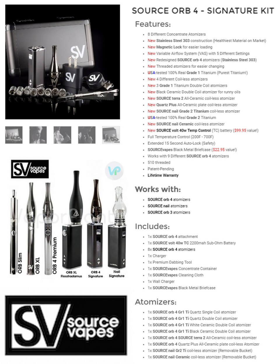Source ORB 4 Signature Vape for Wax Information