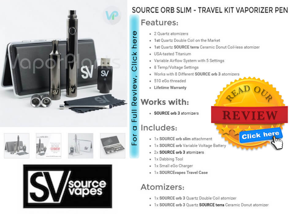 Source ORB Slim Marijuana Wax Pen Information