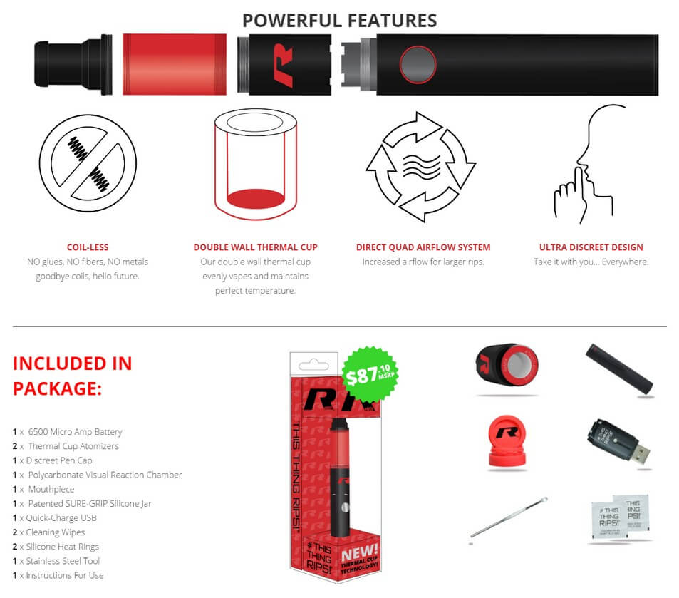 Stok R Series Remix Vapor Pen for Weed Wax Features