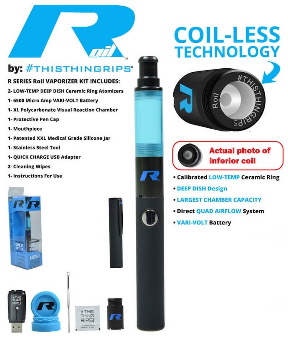 Stok R Series Roil Vape Pen for Cannabis Wax Features