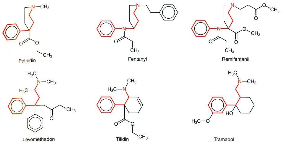 Opiates Structure Formula