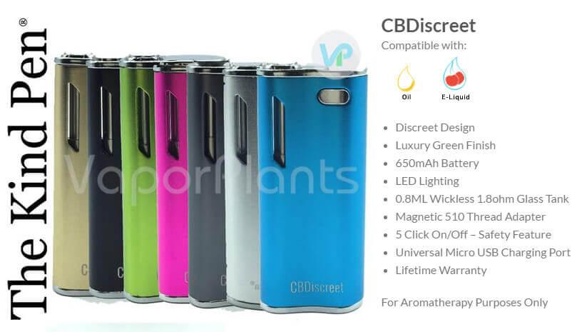 CBDiscreet Oil Vaporizer by The Kind Pen Information