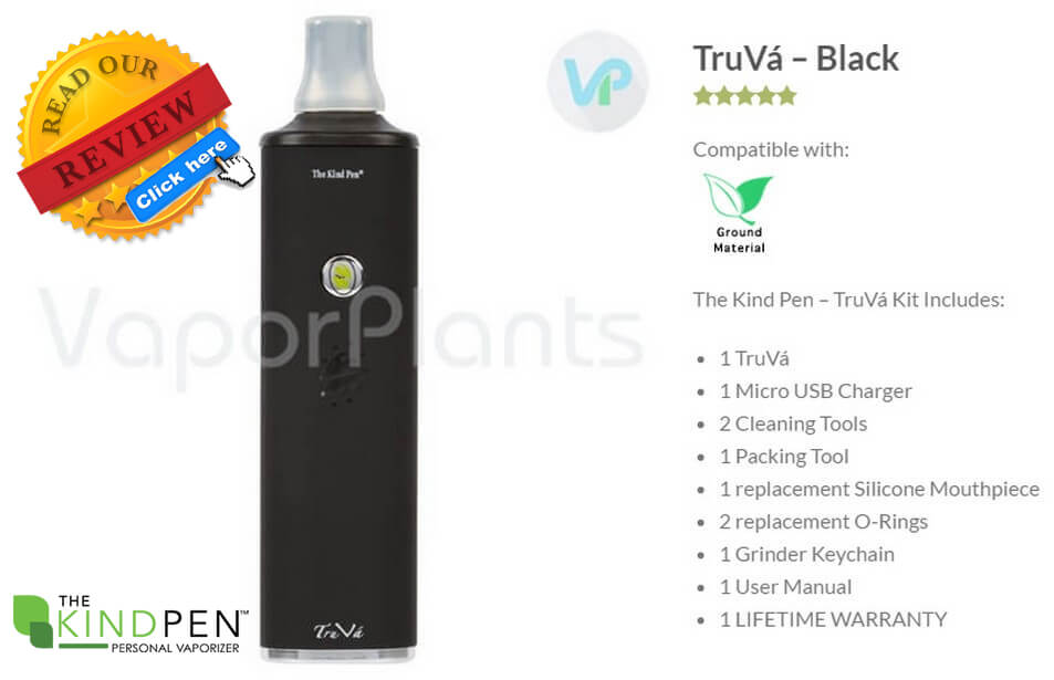 TruVa Cannabis Vaporizer by The Kind Pen Information