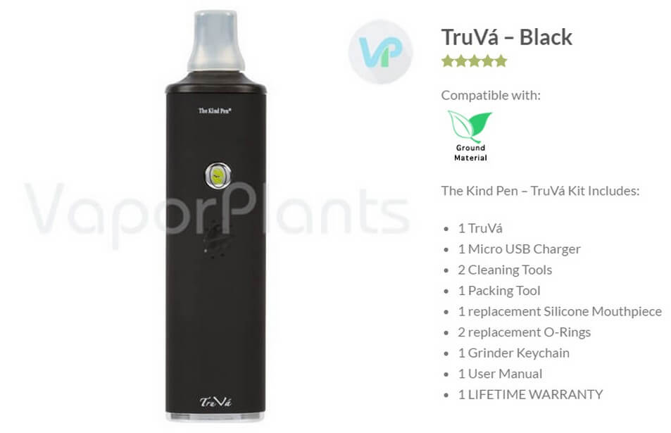 TruVa Vaporizer by The Kind Pen Information