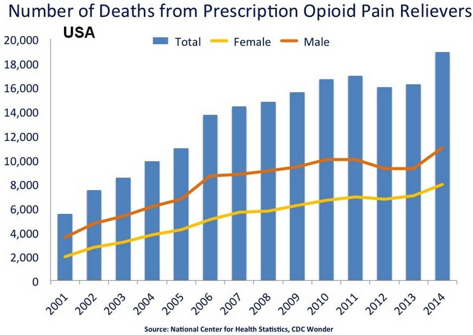 Deaths Related to Prescription Synthetic Pain Relief Drugs