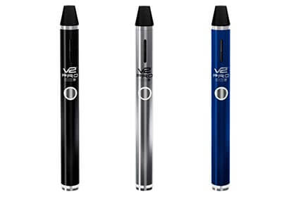 V2 Pro Series 3 Vaporizer in blue, silver and black