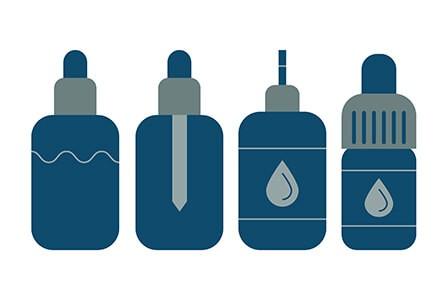 Vape e-Liquid bottles for Vaping CBD