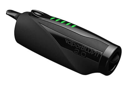 VaporBLUNT 2.0 sideways in black color with fully charged