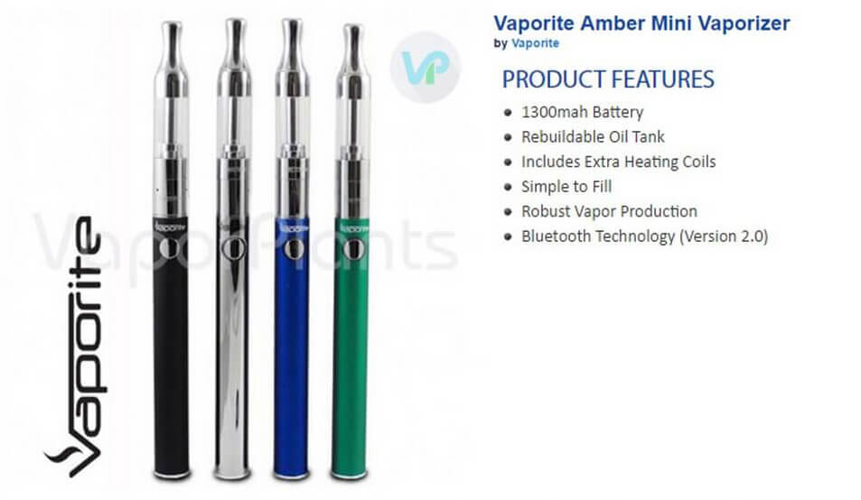 Vaporite Amber Mini Cannabis Oil Pen Information