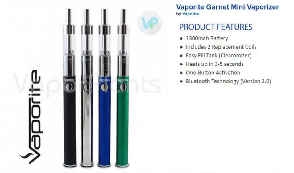 Vaporite Garnet Mini Marijuana Oil Pen Information