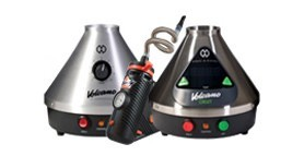 Storz and Bickel volcano vaporizers with handheld plenty vaporizer