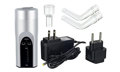 Arizer Solo Portable Vaporizer with Accessories and Parts