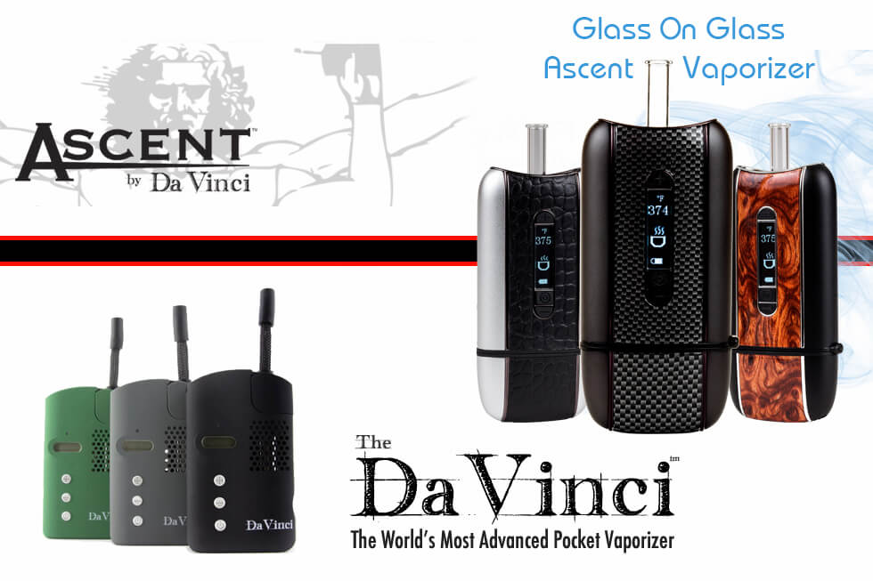 DaVinci Ascent vs Original Vaporizer for dry herb, wax, and oil Banner