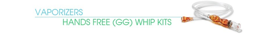 Ground Glass Hands Free Whip Kits - Vaporizer Whip
