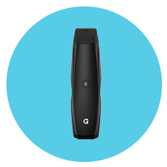 G Pen Elite Vaporizer for Marijuana on Blue Background