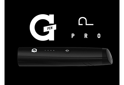 G Pen Pro vaporizer being reviewed