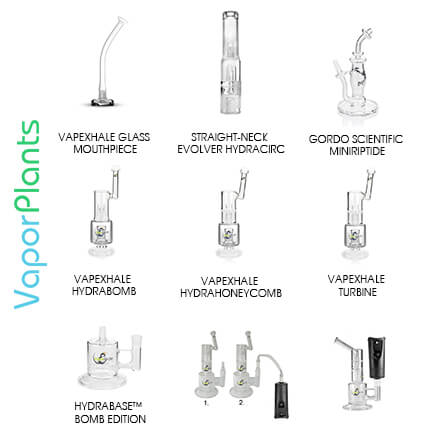 VapeXhale Cloud Evo Different Mouthpieces