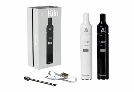 Atmos Kiln KIT in black and white next to a packaging box